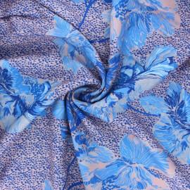 Tissu crêpe de viscose Carlotta - bleu x 10cm