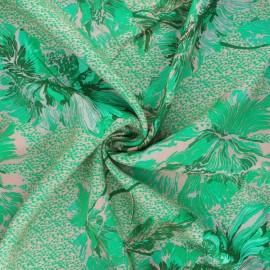 Tissu crêpe de viscose Carlotta - vert x 10cm