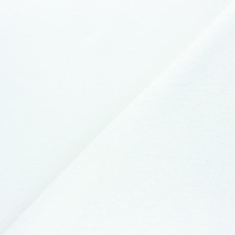 Tissu micro-éponge bambou Calli - blanc x 10cm