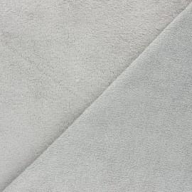Tissu micro-éponge bambou Calli - gris perle x 10cm