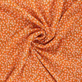 Tissu viscose Little fruits - orange x 10cm