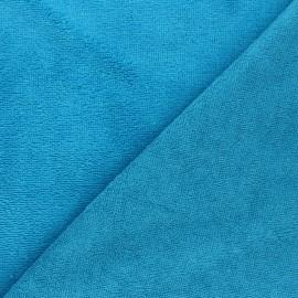Tissu micro-éponge bambou Calli - turquoise x 10cm