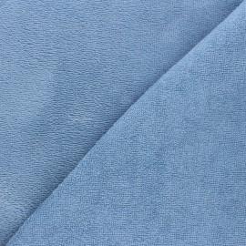 Tissu micro-éponge bambou Calli - bleuet x 10cm