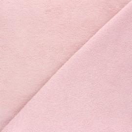 Tissu micro-éponge bambou Calli - rose poudré x 10cm