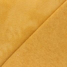 Tissu micro-éponge bambou Calli - curry x 10cm