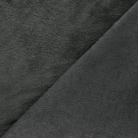 Tissu micro-éponge bambou Calli - gris charbon x 10cm
