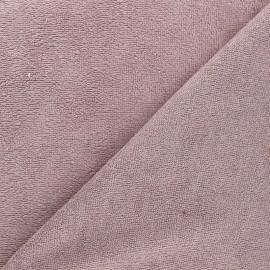Tissu micro-éponge bambou Calli - violet minéral x 10cm