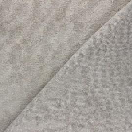 Tissu micro-éponge bambou Calli - taupe x 10cm