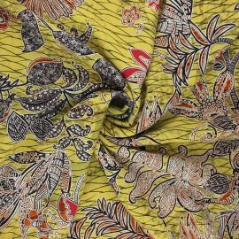 Viscose fabric - moss green Zaina  x 10cm