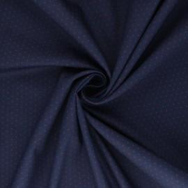 Poplin cotton fabric - navy blue Laïa x 10cm