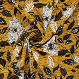 Viscose fabric - mustard yellow Tangara x 10cm