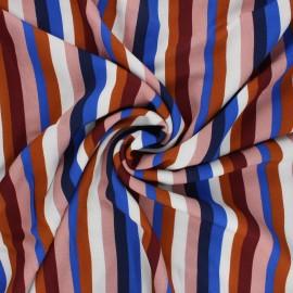 Tissu crêpe de viscose Méditerranée - multicolore x 10cm