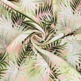 Crepe viscose fabric - pink Bumba x 10cm