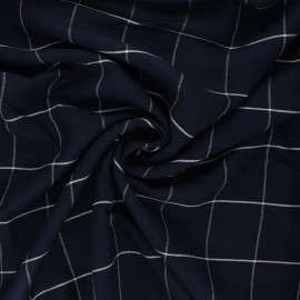 Linen and viscose fabric - night blue Carlow x 10 cm