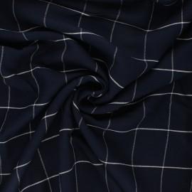 Tissu lin viscose Carlow - bleu nuit x 10 cm