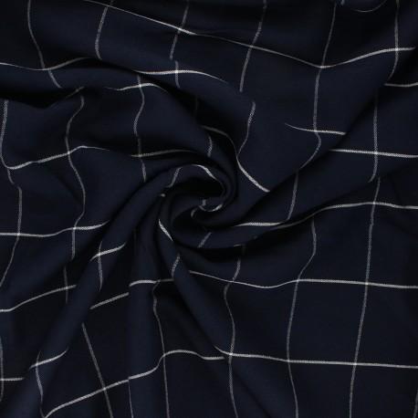 Linen and viscose fabric - night blue Carlow x 10 cm