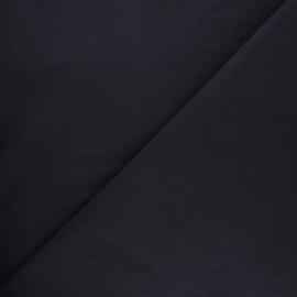 Jersey tubulaire bord-côte Robin - noir x 10cm