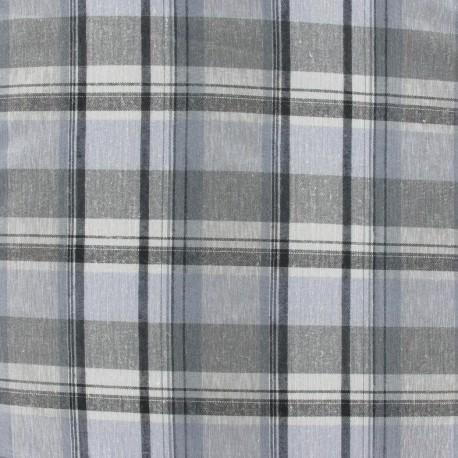 Tissus pas cher tissu carreaux tileanna gris for Tissu a carreaux