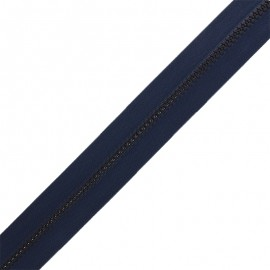 Zip by the meter without sliders - navy blue Classic