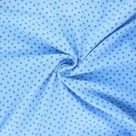Double gauze fabric - light blue Into the stars x 10cm