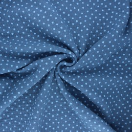 Double gauze fabric - swell blue Into the stars x 10cm
