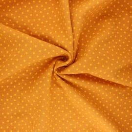 Double gauze fabric - mustard yellow Into the stars x 10cm