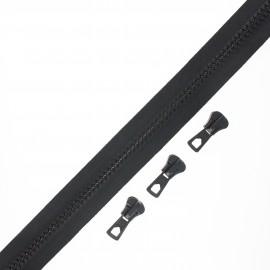 Fermeture Eclair® au mètre Grand classic (3 curseurs) - noir