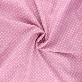 Tissu popeline de coton Skeleton - rose x 10cm