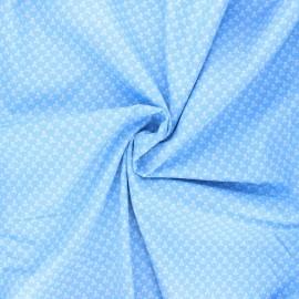 Poplin cotton fabric - sky blue Skeleton x 10cm