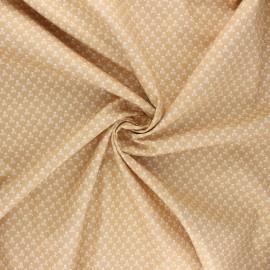Tissu popeline de coton Skeleton - sable x 10cm