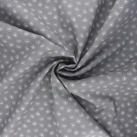 Poplin cotton fabric - grey Tarassaco x 10cm