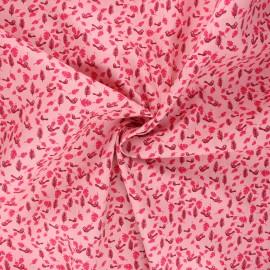 Poplin cotton fabric - pink Birdy x 10cm