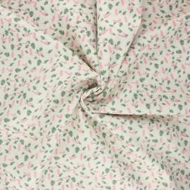 Poplin cotton fabric - raw Birdy x 10cm