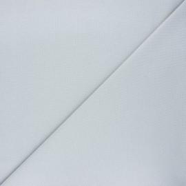 Tissu piqué de coton uni - gris clair x 10cm