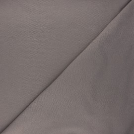 Plain stitched cotton fabric - taupe grey x 10cm