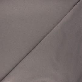 Tissu piqué de coton uni - taupe x 10cm