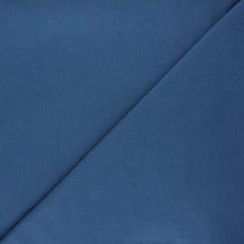 Tissu piqué de coton uni - bleu houle x 10cm