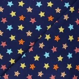 Jersey fabric - night blue Funny stars x 10cm