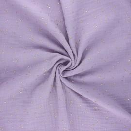 Double cotton gauze fabric - parma Golden Dots x 10cm