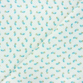 Tissu coton cretonne Salome - bleu x 10cm