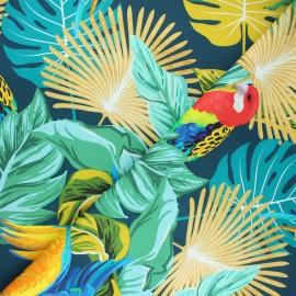 Tissu toile de coton Bimini - bleu pétrole x 10 cm