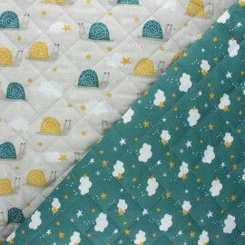 Quilted cotton fabric - greige Nube/ Arnaud x 10cm