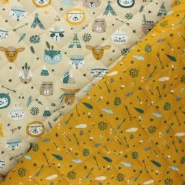 Quilted cotton fabric - mustard yellow Meeko/ Powhatan x 10cm