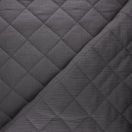Tissu double gaze matelassé réversible uni - taupe x 10cm