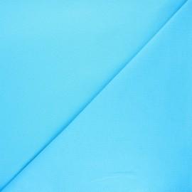 Plain stitched cotton fabric - azure blue x 10cm