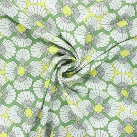 Viscose fabric - green Elvas x 10cm