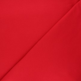Plain stitched cotton fabric - red x 10cm