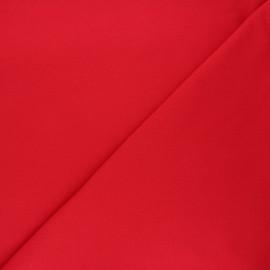 Tissu piqué de coton uni - rouge x 10cm