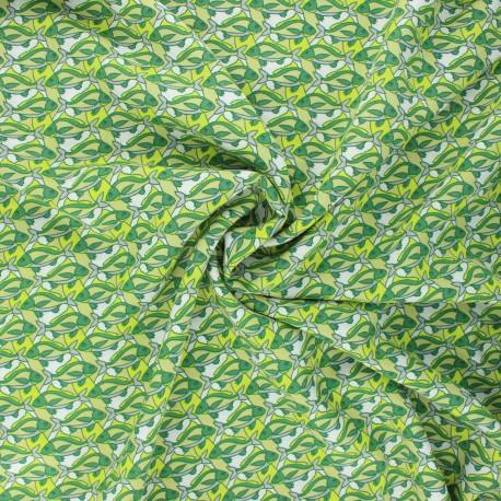 Tissu viscose Piscis - vert x 10cm