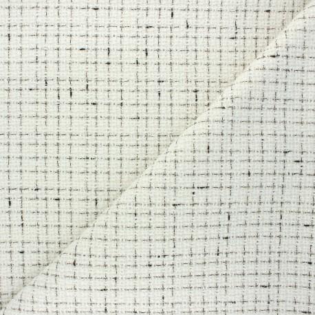 Tissu tweed lurex Auxane - écru x 10cm